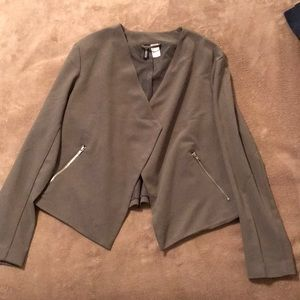 H&M Divided sz12 Blazer w/zip pockets